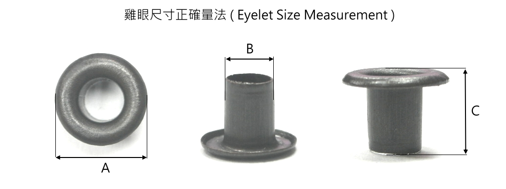 eyelet size