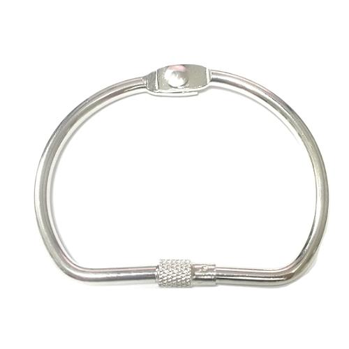 split key ring with lock